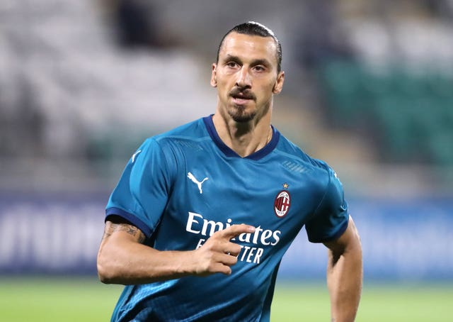 Zlatan Ibrahimovic has scored five goals in three appearances for AC Milan so far this term (Niall Carson/PA).