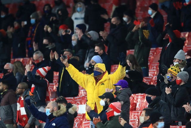 Arsenal fans were in attendance for the first time since March