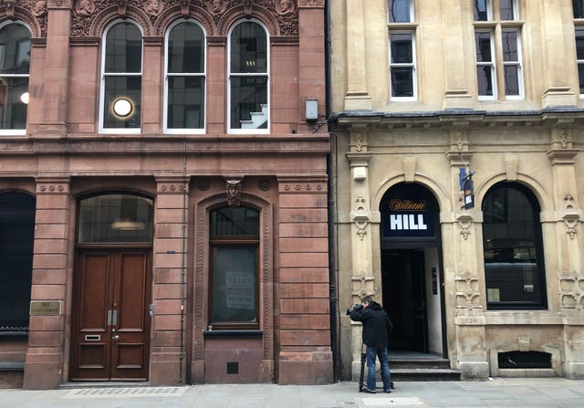 William Hill next door to George Attenborough and Son Jewellers on Fleet Street