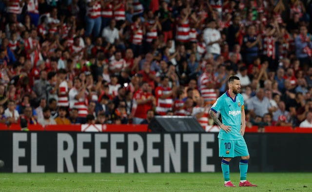 Lionel Messi could do nothing to prevent Barcelona from losing at Granada