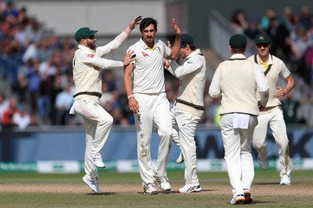 Mitchell Starc played his first match of the series and took three wickets to take a 196-run first innings lead