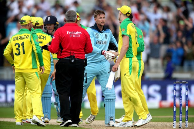 England beat Australia by eight wickets in the World Cup semi-final last year