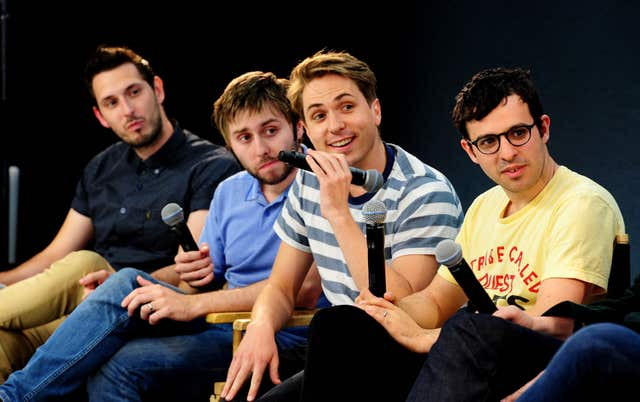 The Inbetweeners stars Blake Harrison, James Buckley, Joe Thomas and Simon Bird
