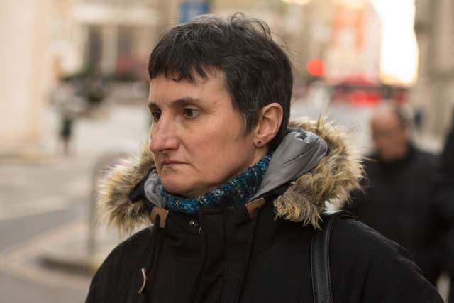 Sophie Lionnet's mother Catherine Devallonne outside the Old Bailey (Dominic Lipinski/PA)