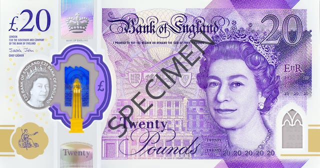 New £20 note design
