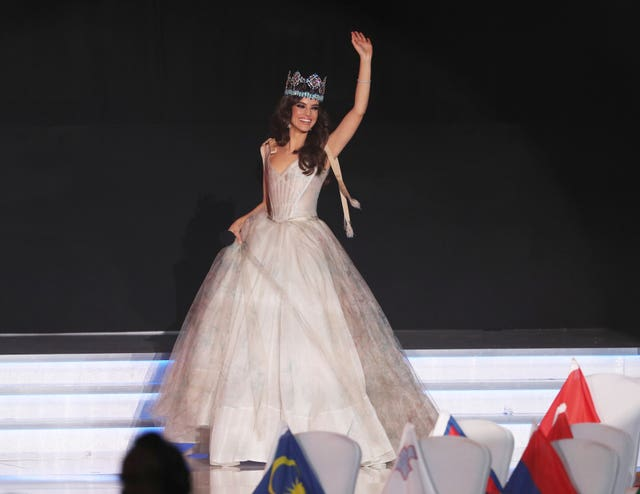 Last year's winner, Vanessa Ponce, of Mexico