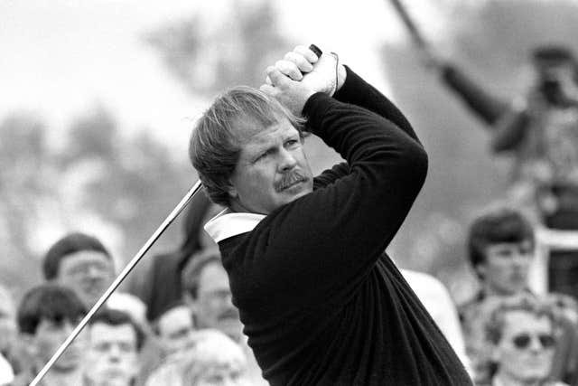 Craig Stadler pictured at The Open at Muirfield in 1987