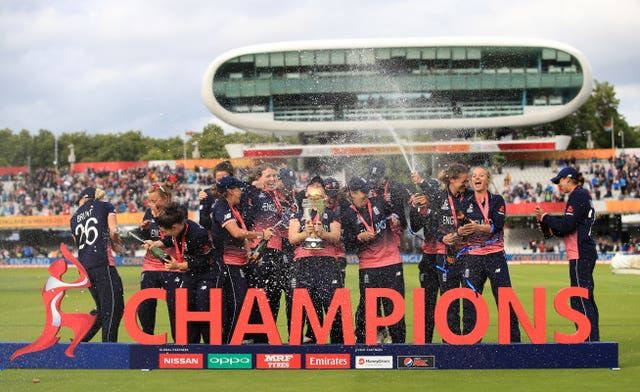 England won the 2017 50-over World Cup