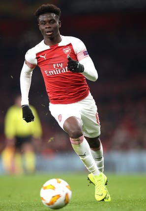 Bukayo Saka is one of Arsenal's emerging talents
