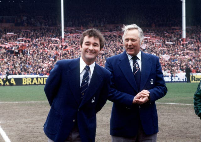 Clough (left) was known as 'Old Big 'Ead'