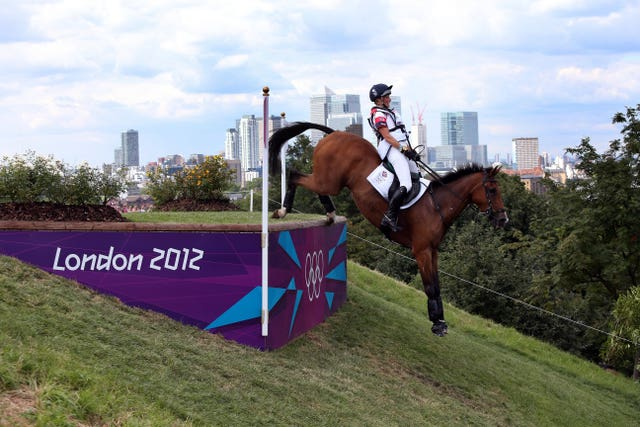 Great Britain's Mary King rides Imperial Cavalier on the cross country course in Greenwich Park at the London 2012 Olympics. King, alongside Nicola Wilson, Zara Phillips, Kristina Cook and William Fox-Pitt, won silver in the team eventing