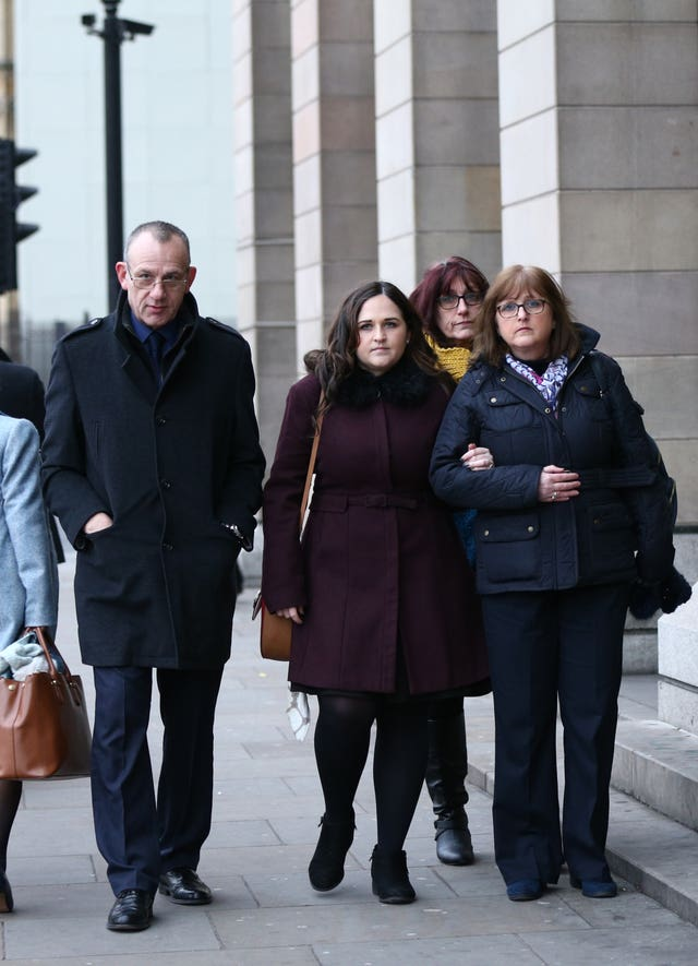 Charlotte Brown's family on the way to meet Sajid Javid