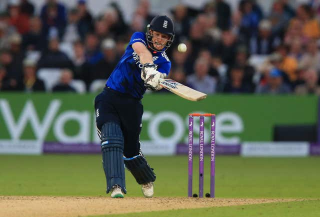 Eoin Morgan was in electric form in Nottingham (Mike Egerton/PA)