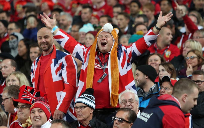 British and Irish Lions fans have always travelled around the globe to support the squad