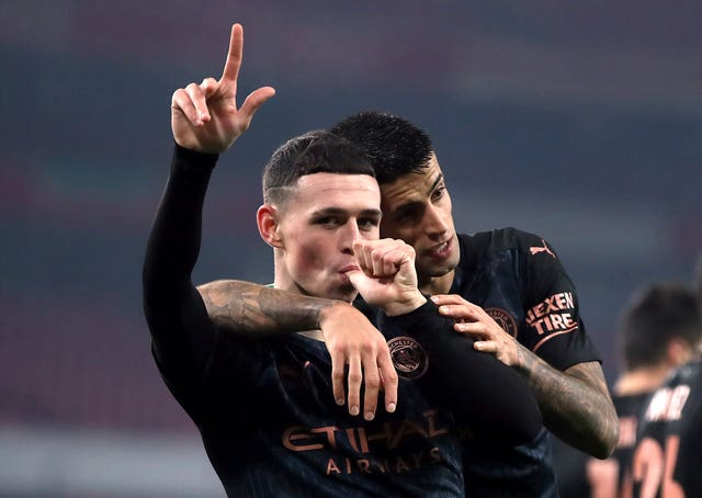 Foden scored and created another goal as City beat Arsenal in the Carabao Cup in midweek
