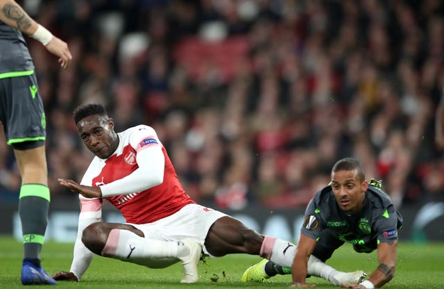 Danny Welbeck injured his ankle against Sporting Lisbon (Nick Potts/PA Images)