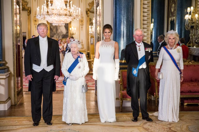 Donald Trump and the royals