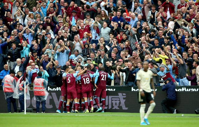 West Ham beat Manchester United 2-0 at the London Stadium on their last visit in September 2019