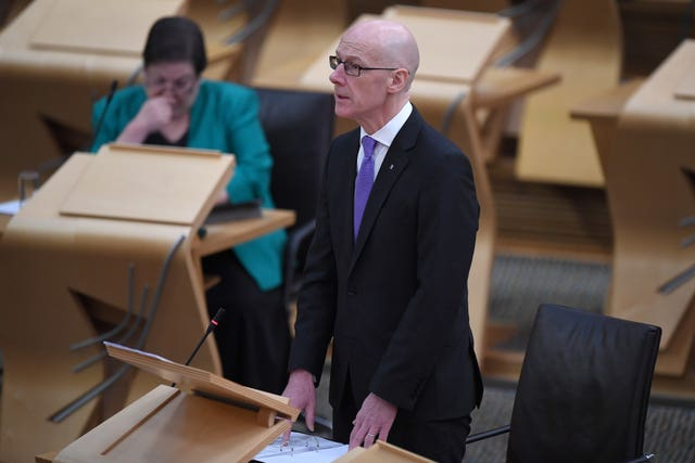 John Swinney in Holyrood