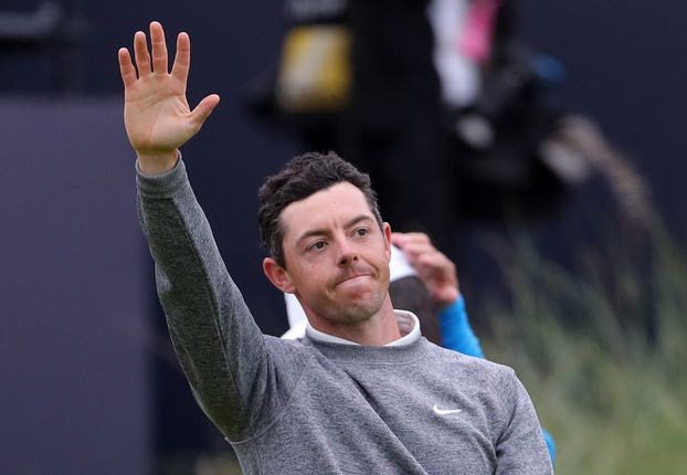 McIlroy missed the cut at the Open at Royal Portrush