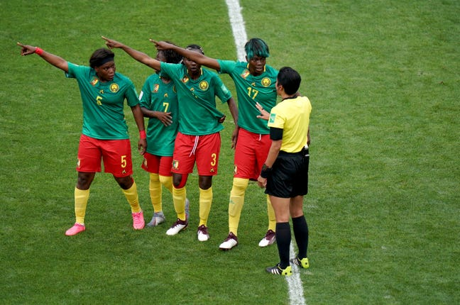 Cameroon's players were criticised for their reaction to VAR decisions during the Women's World Cup