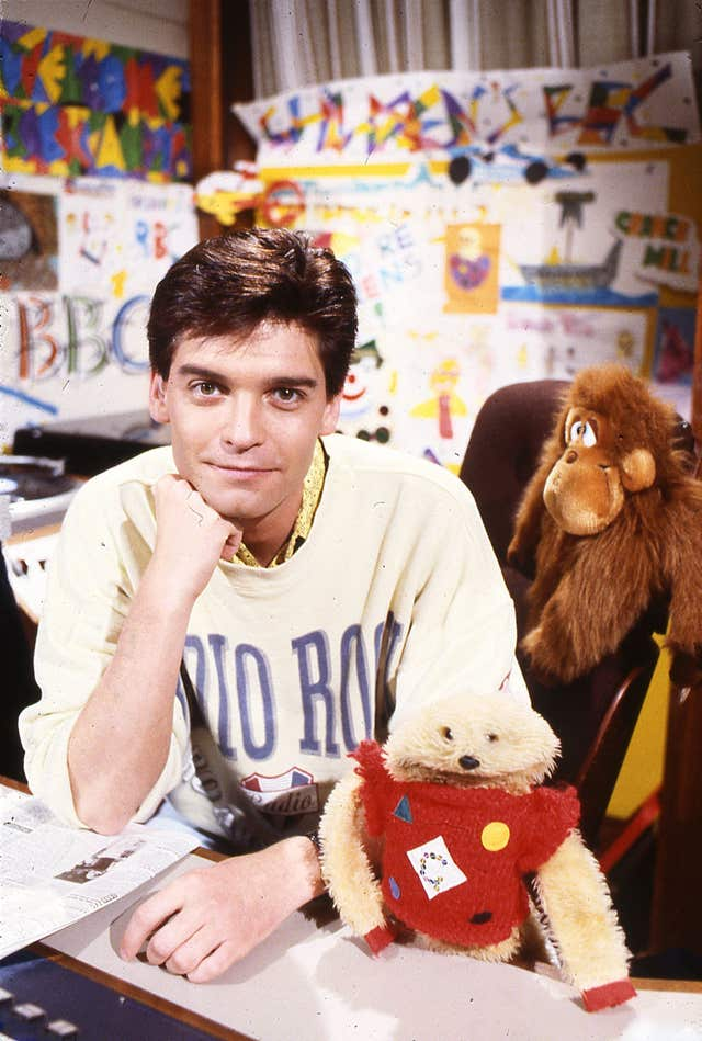 Phillip Schofield with Gordon The Gopher
