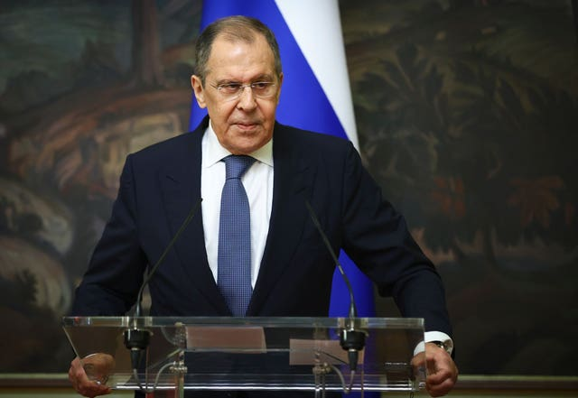 Russian foreign minister Sergey Lavrov (Russian foreign ministry/AP)