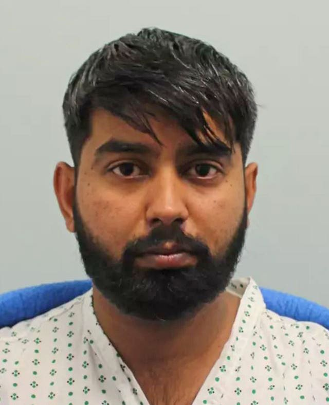 Jaynesh Chudasama who has admitted killing three boys as they walked to a 16th birthday party in West London (Metropolitan Police/PA)