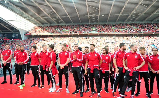Wales' Euro 2016 squad were welcomed home at a special event in Cardiff
