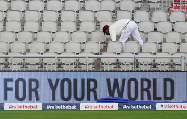 Test cricket in England has returned behind closed doors