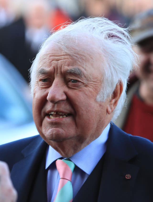 Jimmy Tarbuck was due to speak at the service (Peter Byrne/PA)