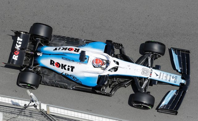 George Russell's Williams was damaged during the first practice session in Baku
