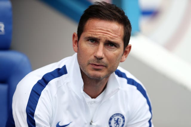 Frank Lampard saw his Chelsea side lose 1-0 to Valencia (David Davies/PA).
