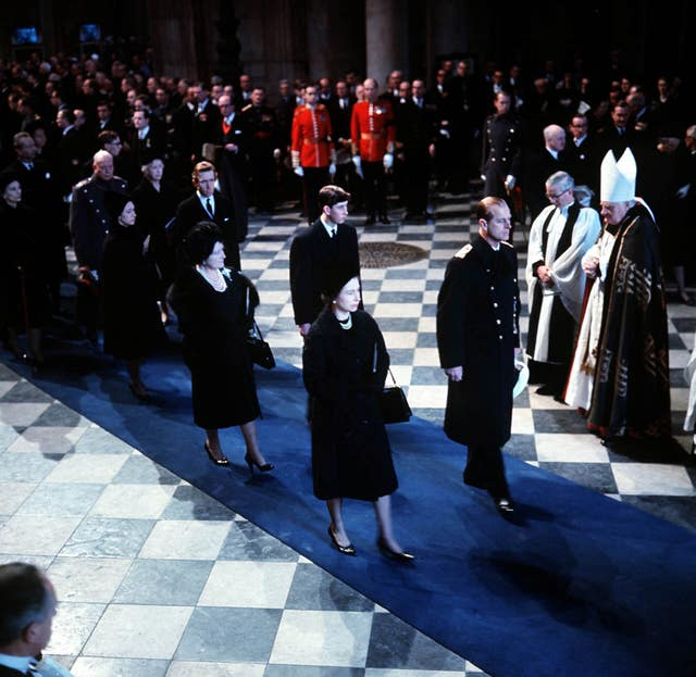 Politics – State Funeral of Sir Winston Churchill – St Paul's Cathedral, London