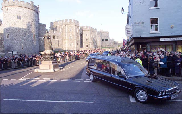 Princess Margaret hearse leaves Windsor Castle