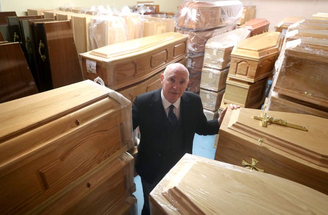 Coffin storage at funeral home