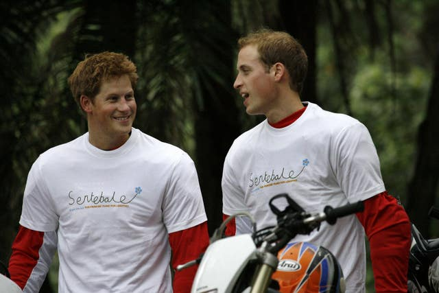 Princes' charity bike ride