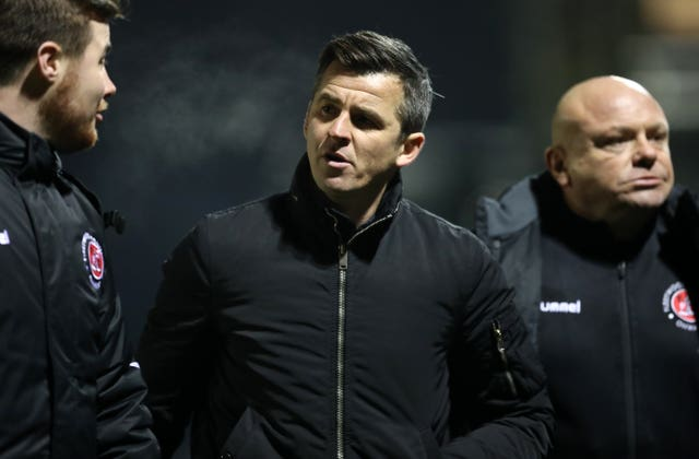 Former England midfielder Barton became Fleetwood boss in June 2018