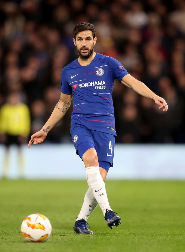 Cesc Fabregas played in Chelsea's Europa League campaign