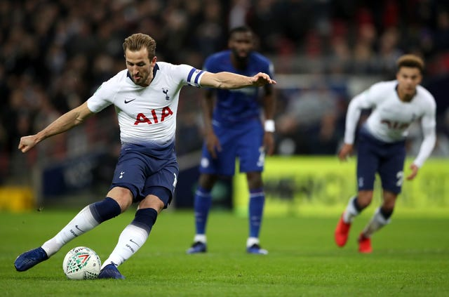 Harry Kane bagged the winner from the penalty spot against Chelsea in midweek (Nick Potts/PA)