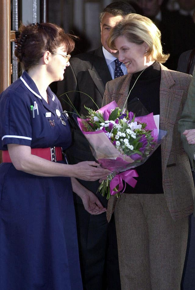 Countess of Wessex Leaves Hospital
