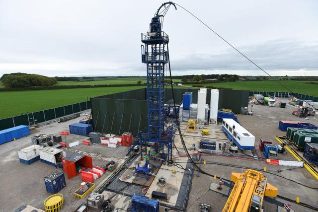 Cuadrilla hydraulic fracturing site at Preston New Road