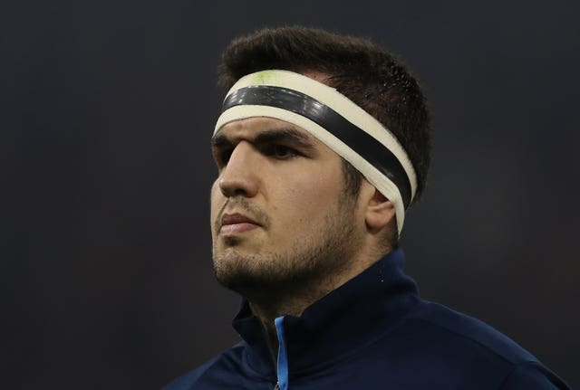 Captain Stuart McInally lines up in the front row for Scotland