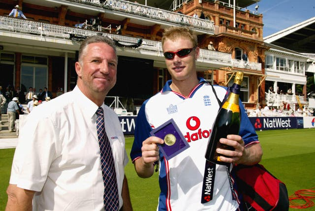 Sir Ian Botham and Andrew Flintoff