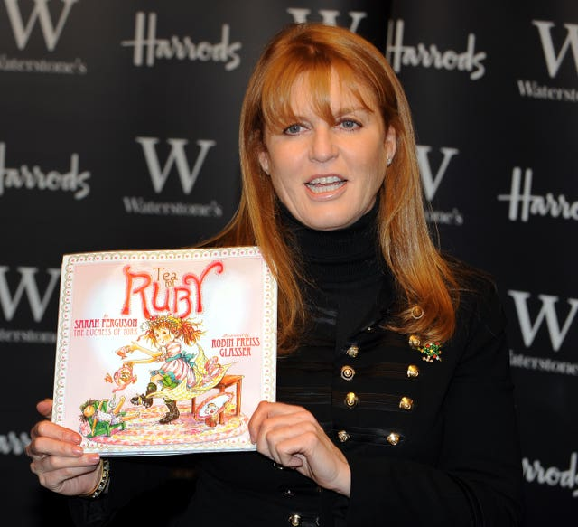 The duchess promoting her children's book Tea For Ruby in London in 2008
