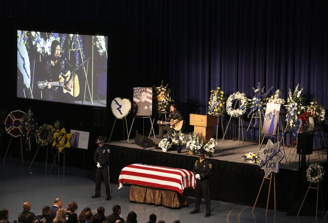 Officer Killed California Funeral