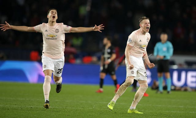 Manchester United produced a dramatic comeback to knock PSG out of last season's Champions League.