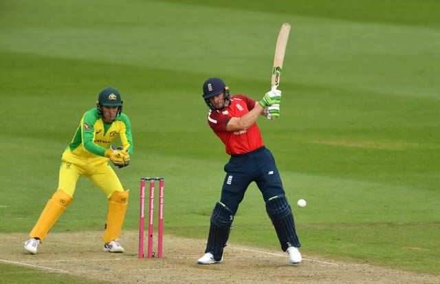 Jos Buttler was named man of the match after he scored 77 not out to help England win the second T20 international against Australia by six wickets