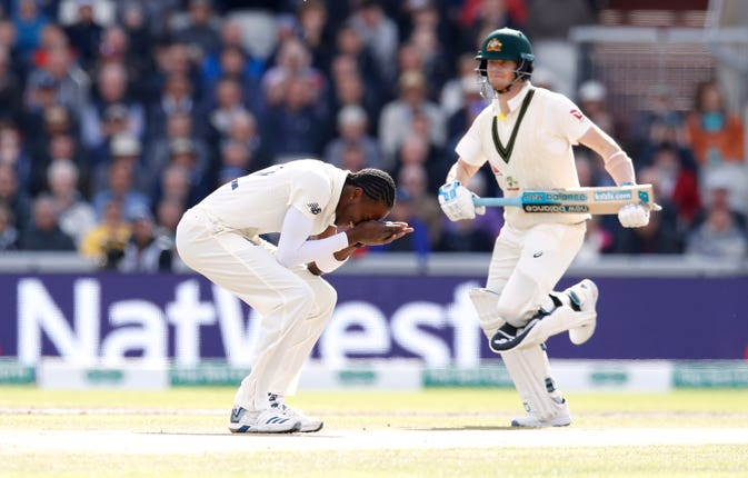 Smith was dropped by Jofra Archer