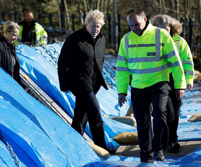 Britain's Prime Minister Boris Johnson visits Bewdley